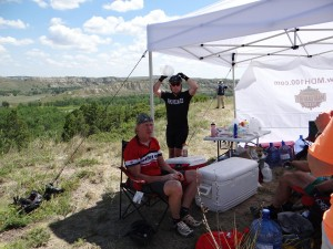 Gord and Matt at Aid Station 2: Photo Credit: Dakota Cyclery